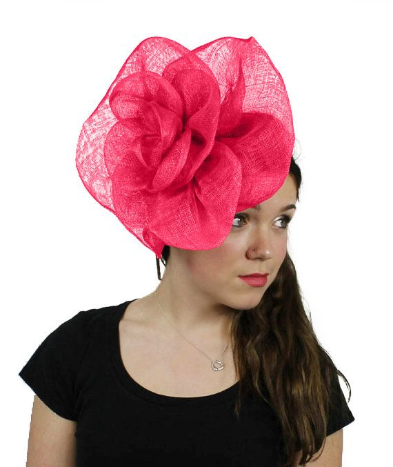 Cuban Rose Fuchsia Fascinator Hat for Weddings b9846f0354d
