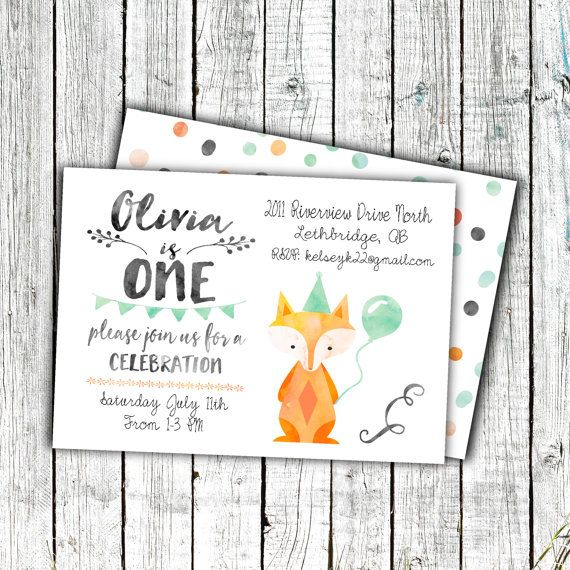 Birthday Party Invitation, Printable Invitation, Gender Neutral