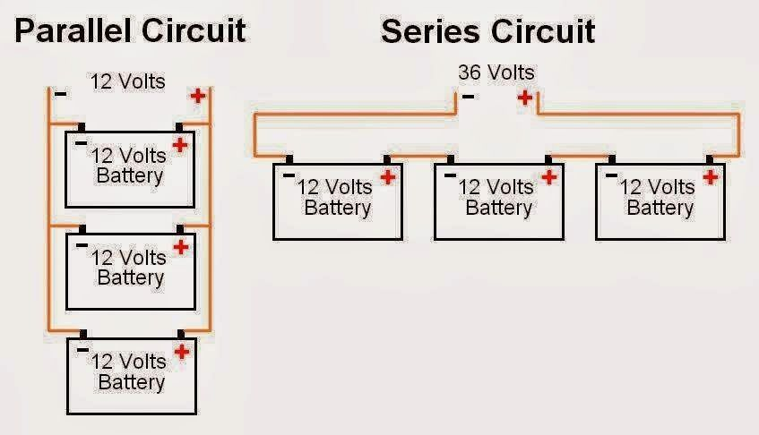 Battery Connections Parallel For High Current And Series For High Vo Electrical Engineering Books Series And Parallel Circuits Electrical Engineering Projects