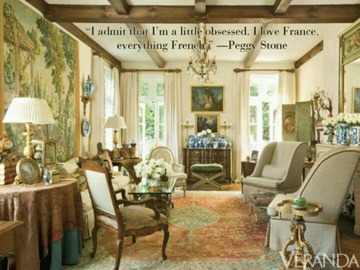 Everything French  Interiors & Vignettes  Pinterest  Living Fascinating French Design Living Room Decorating Design