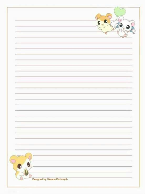 Kawaii paper Kawaii stationery Pinterest Kawaii, Stationary - letter writing paper template