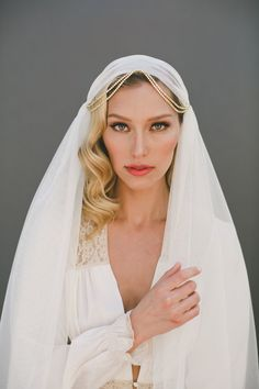 Image result for paneled draped wedding veil