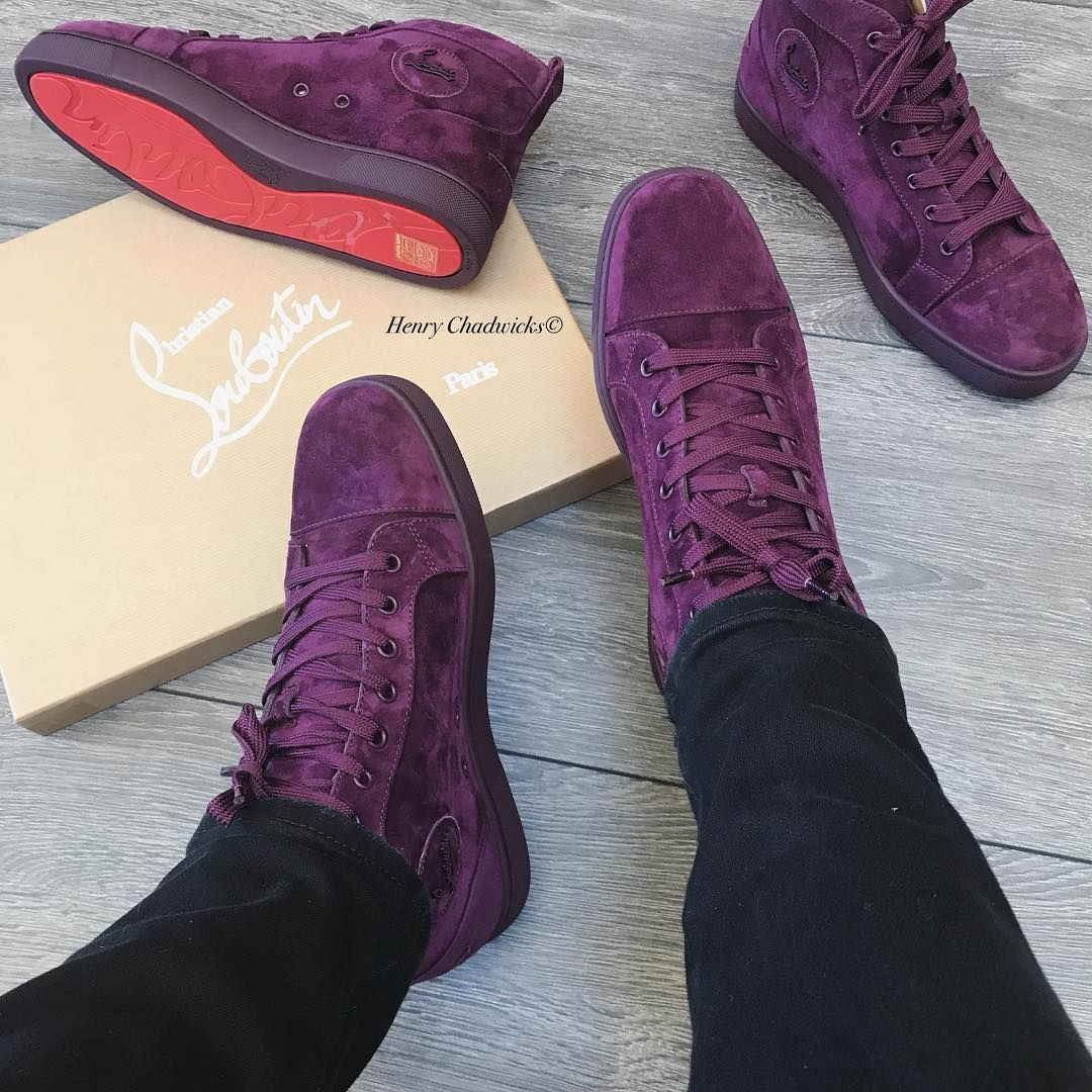 cheap for discount 8fc88 add9e Christian Louboutin!Suede Louis! | Sneakers!!! in 2019 | Red ...