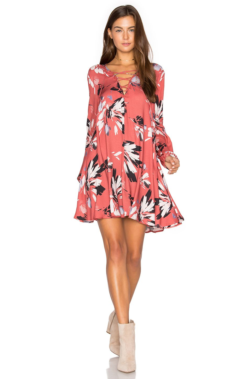 Yumi Kim Lattice Dress in Sienna Fiesta Cinnamon | - DRESSES ...