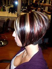 Stacked Hairstyles Back View Bob Short Blonde Salon Lampshade Scenes