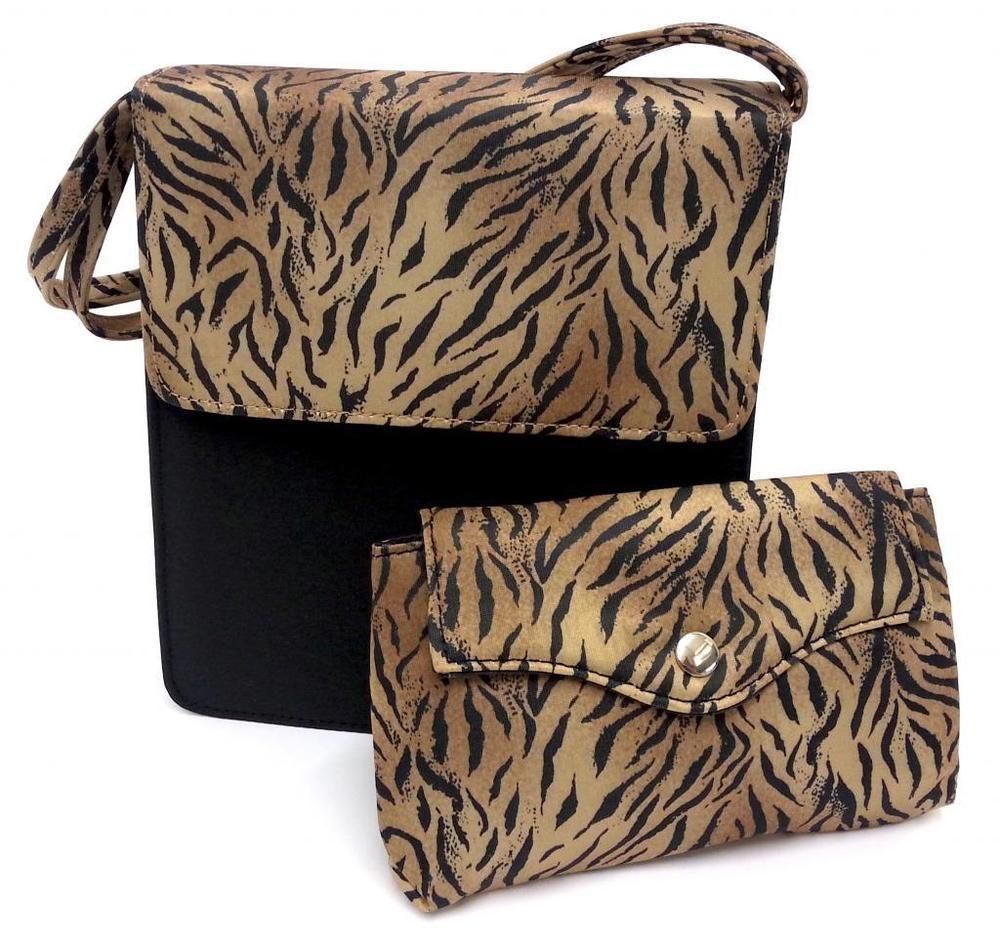 Tiger Print Travel Bag Makeup Cosmetic Toiletry Handbag
