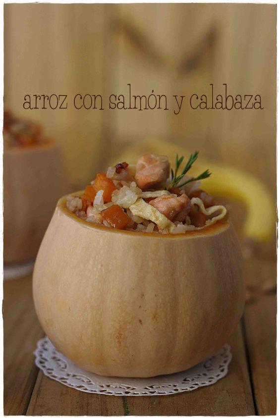 Arroz con salmón y calabaza {by Paula, Con las Zarpas en la Masa}