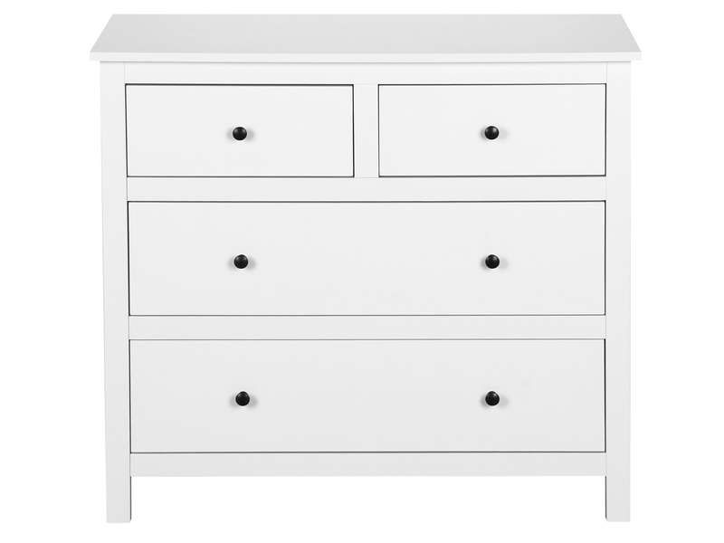 commode 4 tiroirs lou coloris blanc pas cher c 39 est sur large choix prix. Black Bedroom Furniture Sets. Home Design Ideas