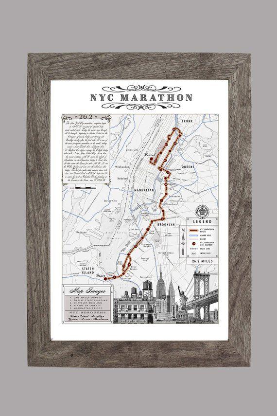 Personalized Custom  Marathon Course Map