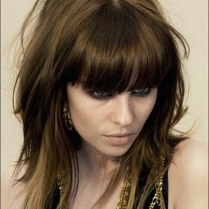 Long Hairstyles For Thin Hair With Bangs Medium Length Messy