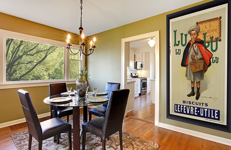Extra large posters look great in the dining room! http://www ...
