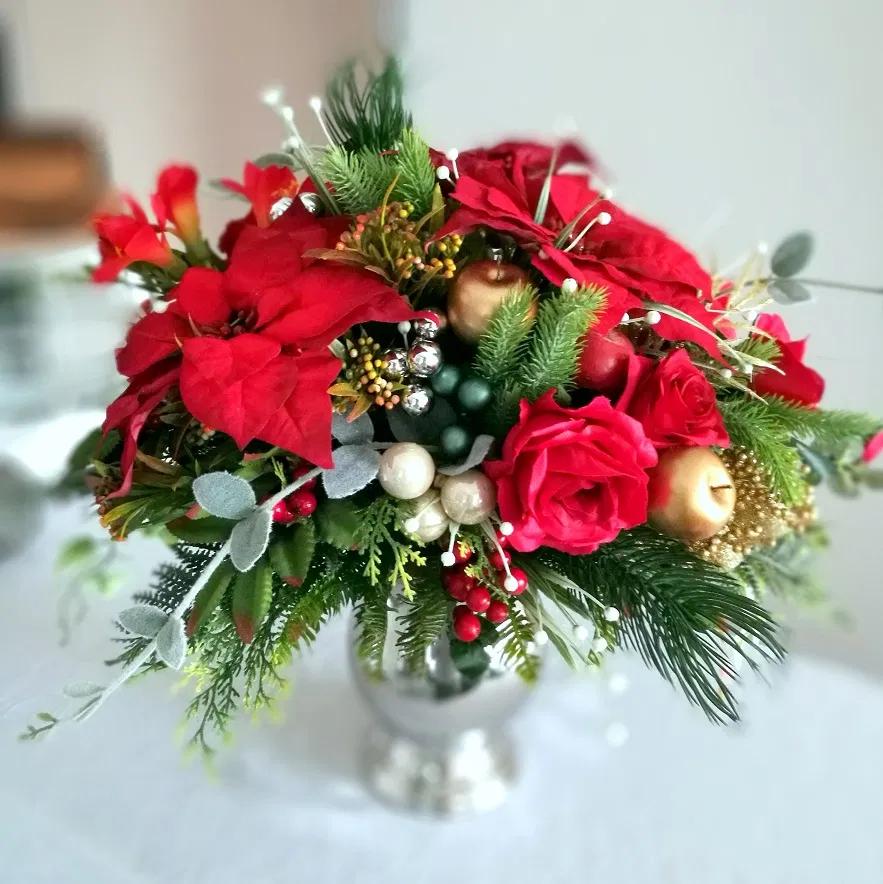 Klasyczna Dekoracja Swiateczna Nr 268 Swiateczne Atelier Church Flower Arrangements Christmas Wreaths Holiday Decor