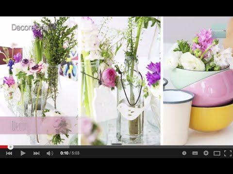 Curso de decoración online: Cómo hacer arreglos florarles Vídeo-tutorial. Alejandra nos cuenta cómo se hicieron estos bonitos centros de flores para decorar una mesa de comedor.