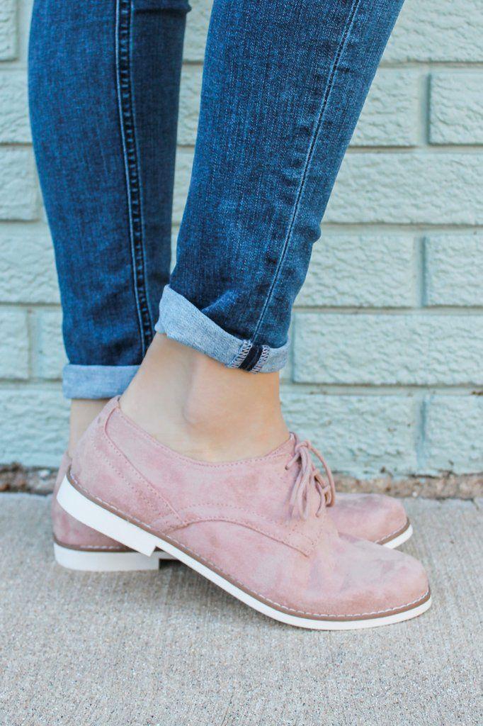 d5194e68a961 Faux Suede Lace Up Front Oxfords Madam-S Cute Shoes