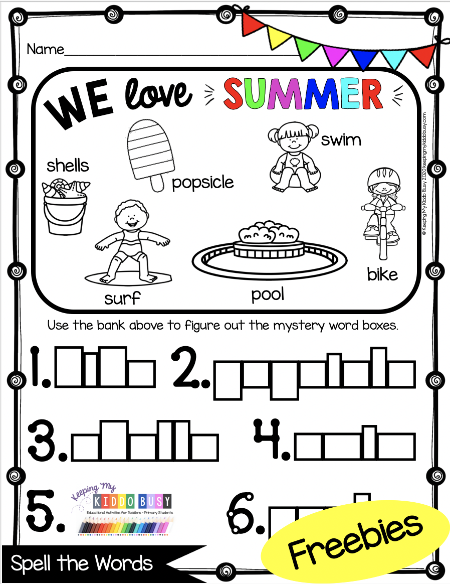 Summer Learn At Home Pack For Kindergarten And First Grade Keeping My Kiddo Busy Summer Learning Kindergarten Freebies Business For Kids [ 1164 x 898 Pixel ]
