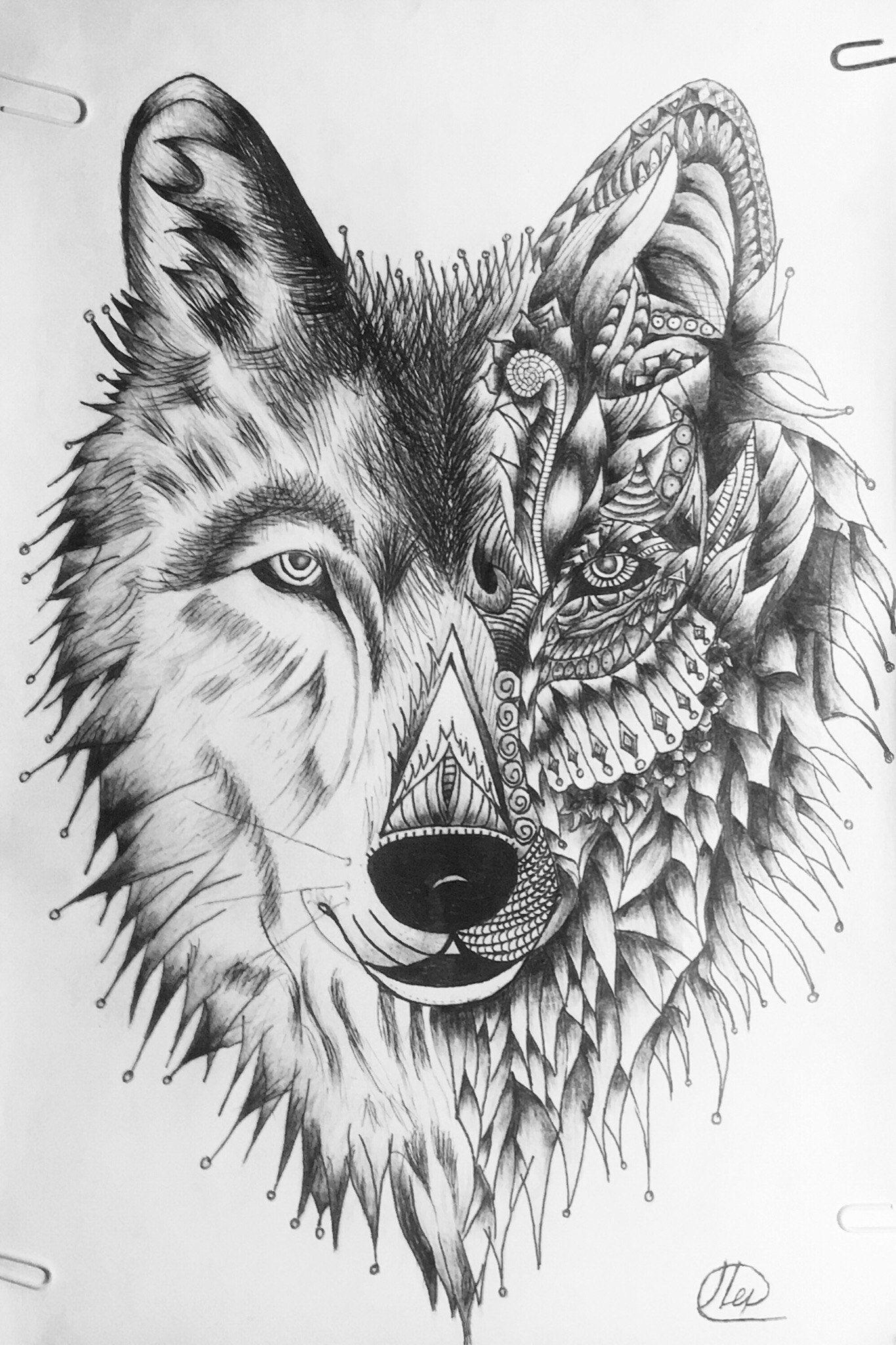 Pin De Adam Omar En Tattoo Tatuajes De Lobos Tatuajes De