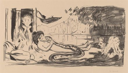 Munch, Edvard - The Cloud (The Serpent / The Shadow) 1908/09 lithograph
