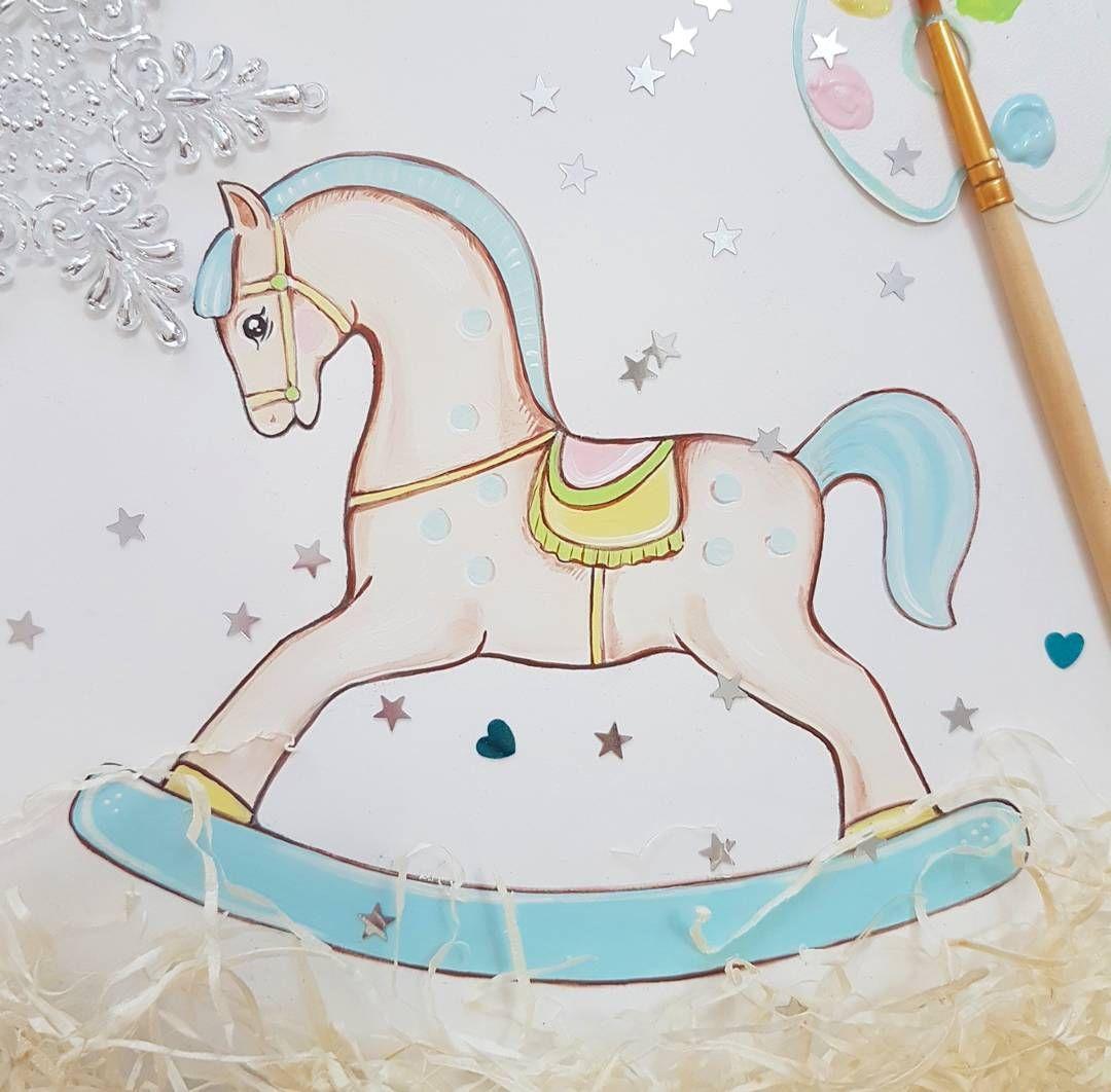 """Наконец то я сочинила СВОЮ лошадку))) долго я думала какая она будет и вот родилась ))))теперь я буду делать такие из бука для вас а ещё будут наборы для росписи""""роспиши свою лошадку"""" а может и большую сделаю что то я розашлась не на шутку ))))) #лошадкакачалка#лошадка#лошадкаhelenatoys"""