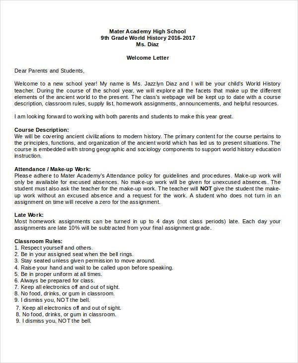welcome letter template free word pdf documents download format - sample welcome letter