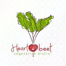 Submission for heartbeet vegetarian bistro contest logo - SOLD! But I can make you a similar logo :) c. sheri nutter illustration + design 2013 all rights reserved