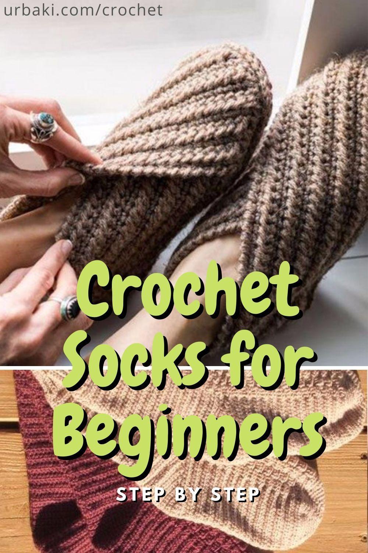 Crochet Socks For Beginners Step By Step Crochet Socks Crochet Slippers Free Pattern Mens Slippers Crochet Pattern