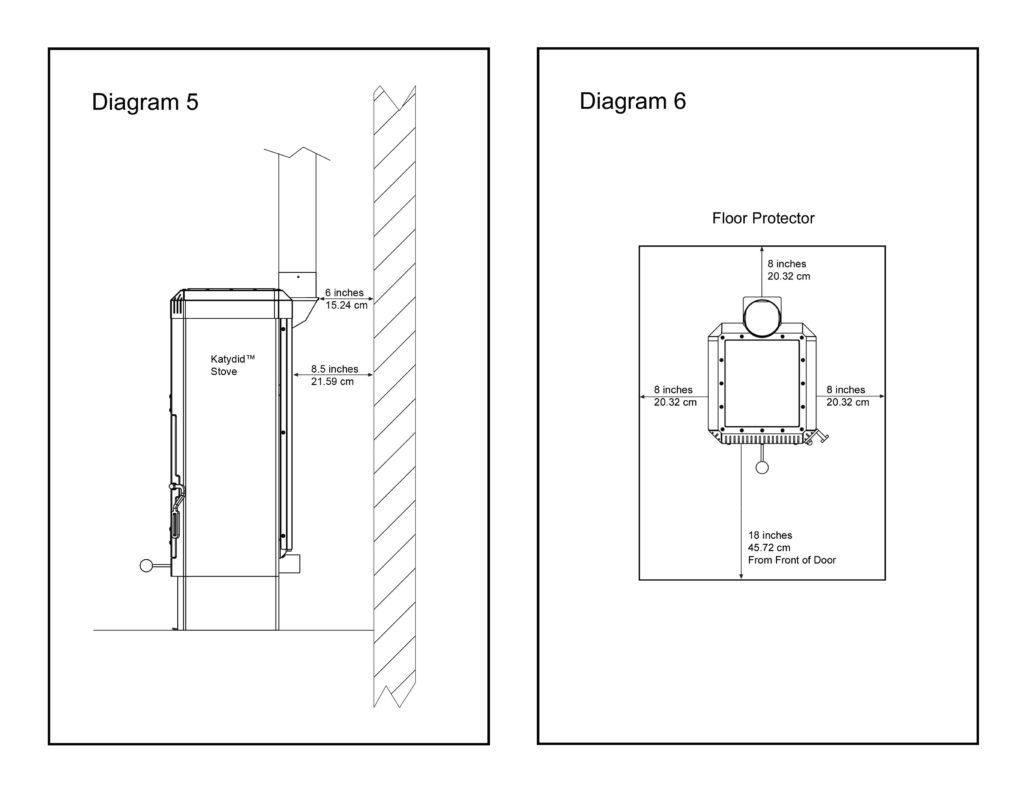 small resolution of katydid small wood burning stove installation diagrams 5 6