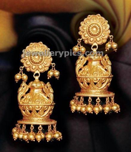 Different type Jhumka gold buttalu Gold Jewellery Designs