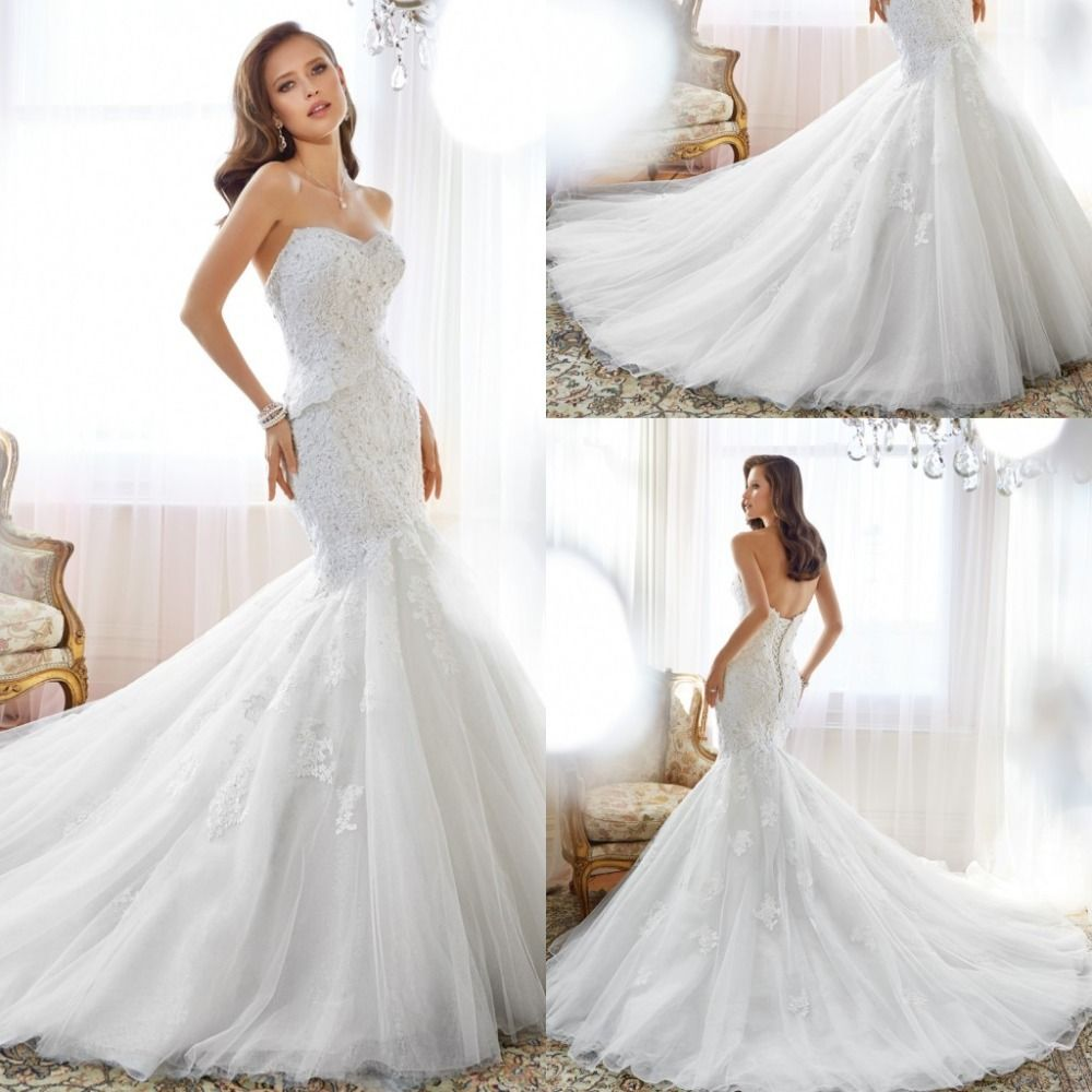 Back out wedding dresses  Click to Buy ucuc  Spring Modern Mermaid Wedding Dresses