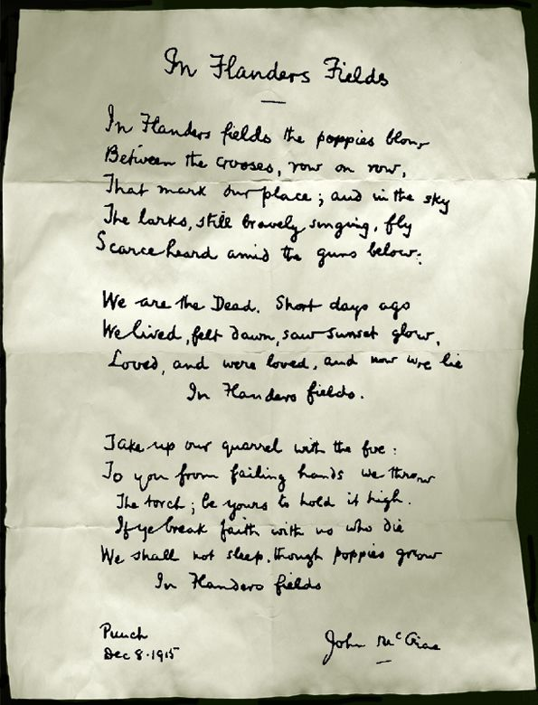flanders field poem | In Flanders Fields « Mrs.Chan's Creative ...