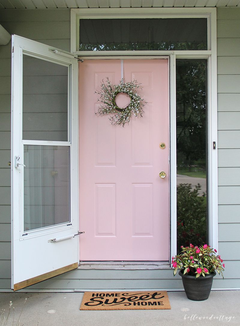 12 Painted Pink Door Ideas So Cute Pink Door Ideas Lolly Jane Pink Front Door Pink Door Front Door Colors