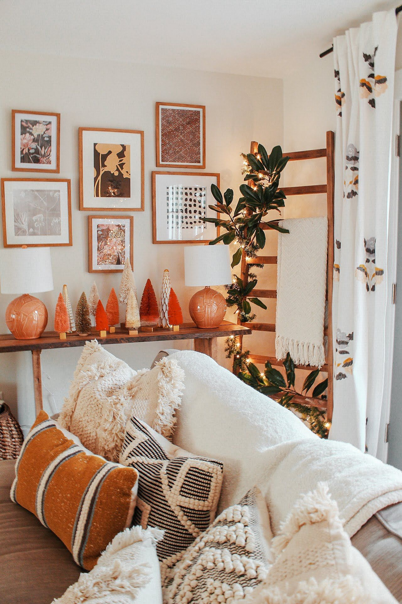 farmhouse decor bohemian room living bedroom diy christmas interior fall furniture