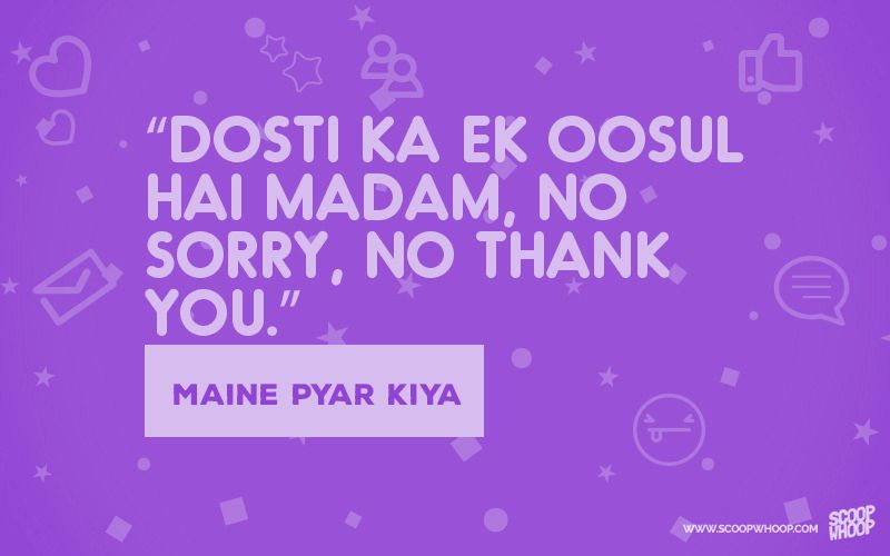 13 Bollywood Dialogues On Dosti That You Can Use On Your Friend Bollywood Quotes Friendship Songs Happy Friendship Day Songs about friendship evoke a different feeling in every individual. bollywood quotes friendship songs