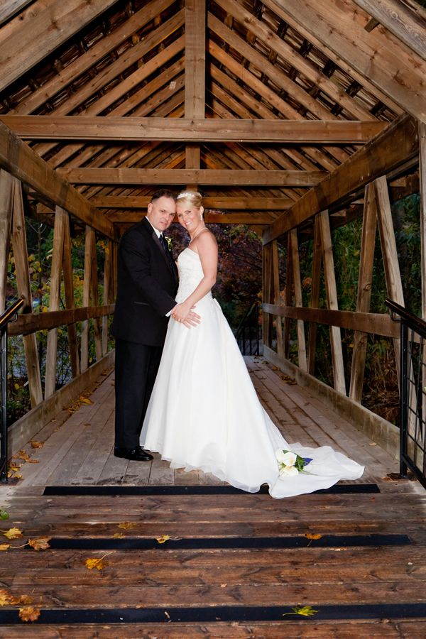 Small Covered Bridge That Leads From The Reception Venue To Outdoor Ceremony Located