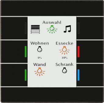 Schwarz Haustechnik mdt be gt2ts 01 glastaster mit 6 sensorflächen schwarz