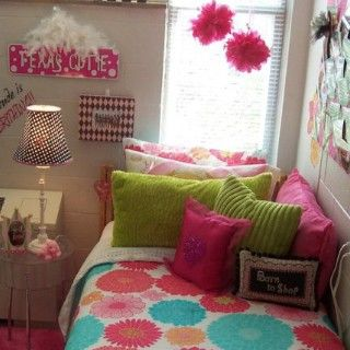 pompoms from ceiling? lots of pillows!