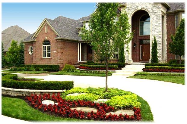 Novi Michigan Landscape Redesign Executive Landscape   Front ...