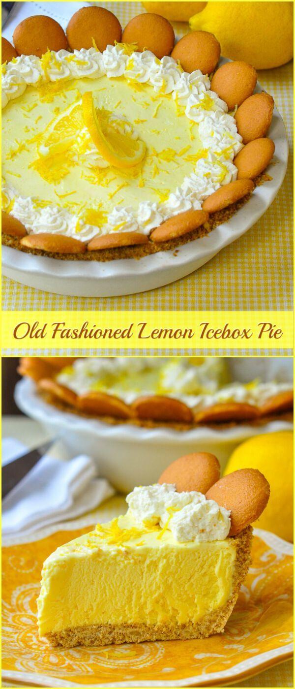 Old fashioned lemon icebox pie 95