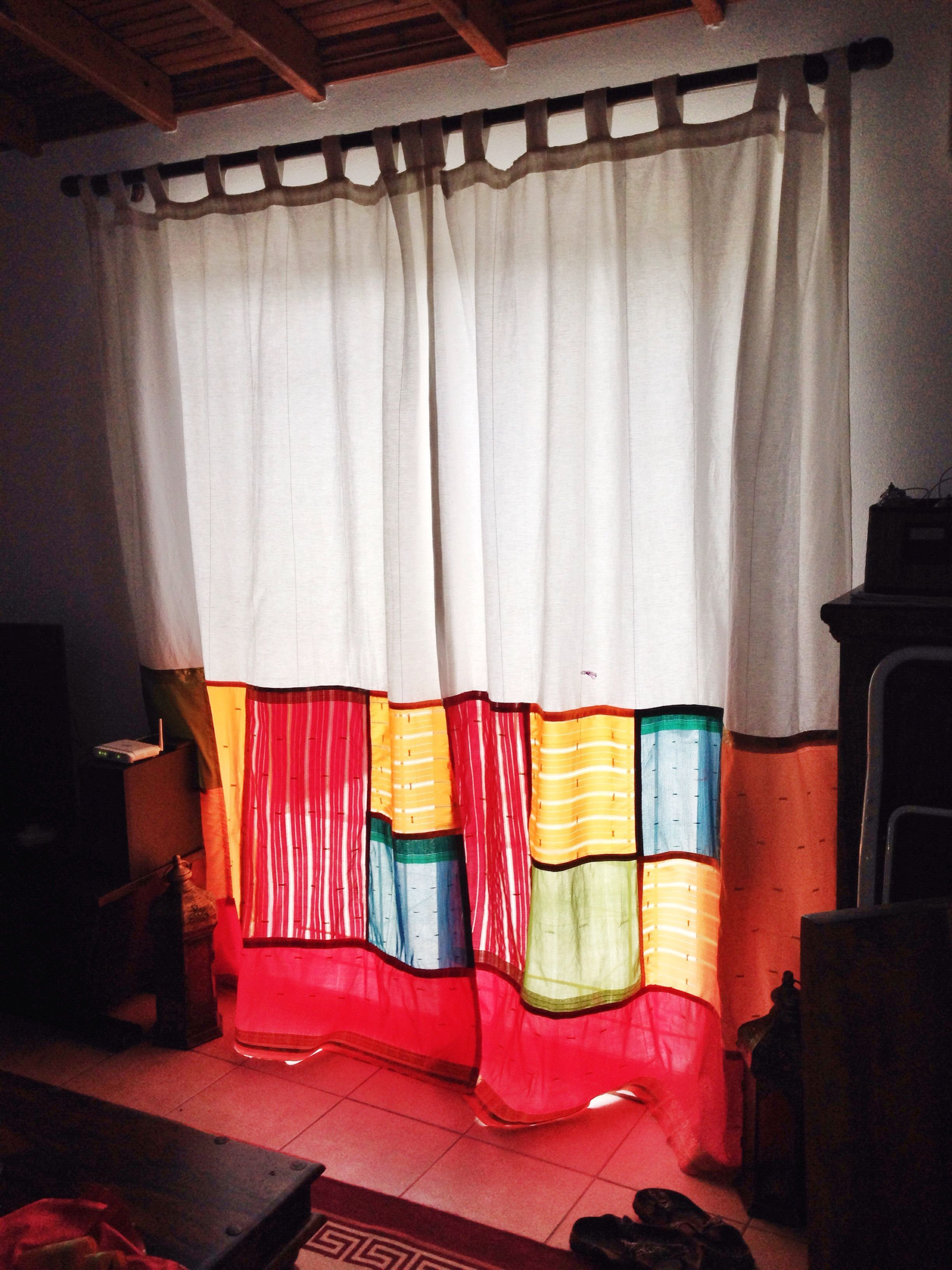Window coverings of idaho  the sari fabric is beautifully translucent during the day my new