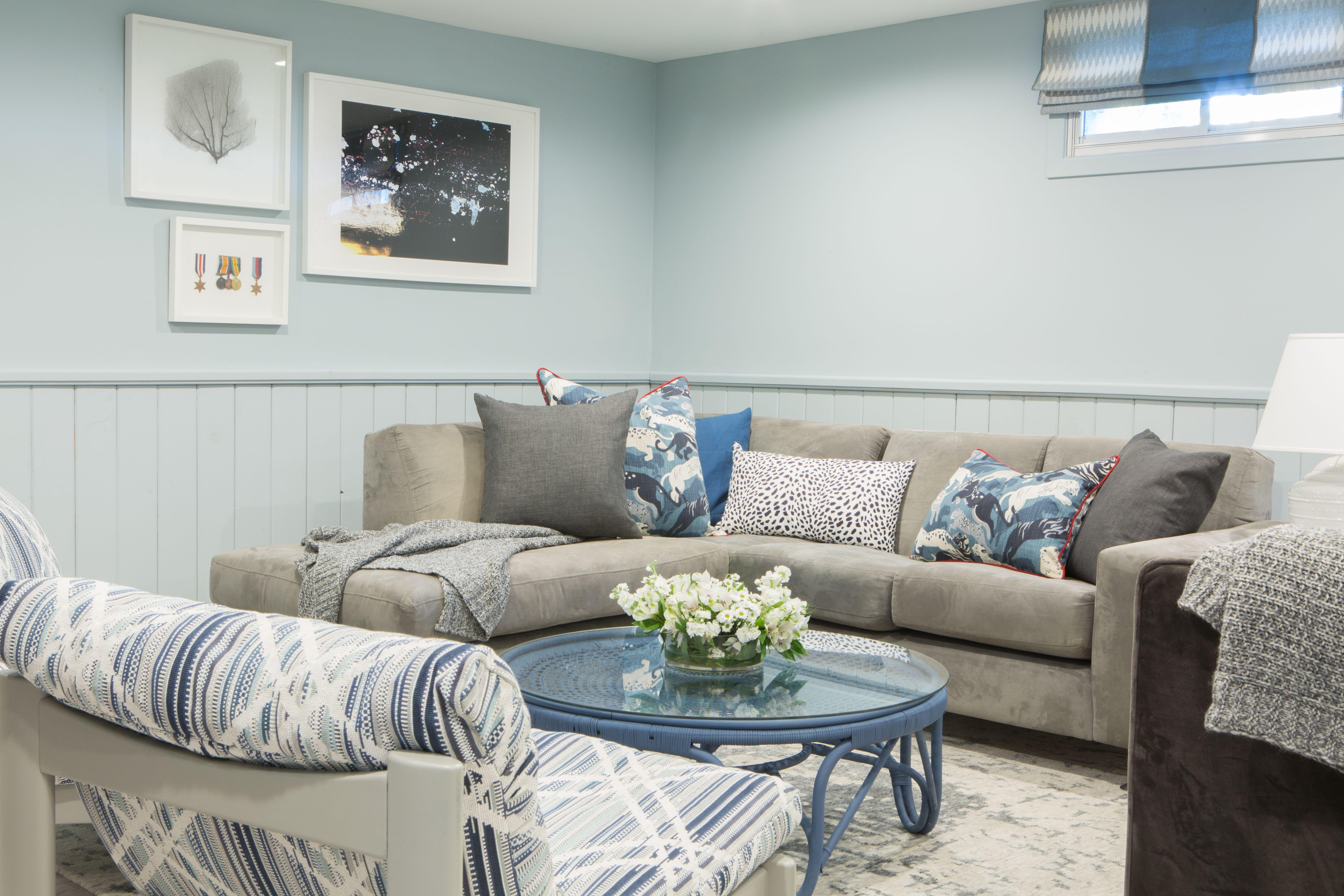 Blue Basement Rec Room