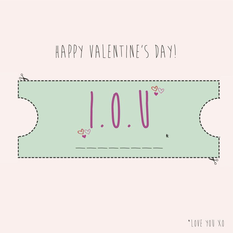 Freebie Printable ValentineS Day IOU Vouchers