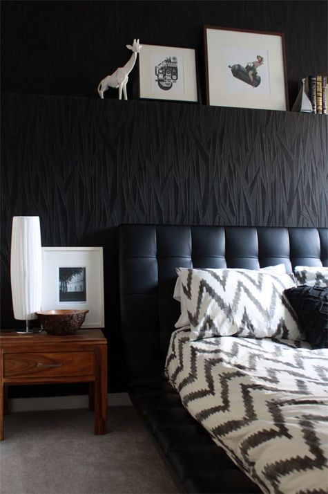 great masculine bedroom.  design by leclair decor.