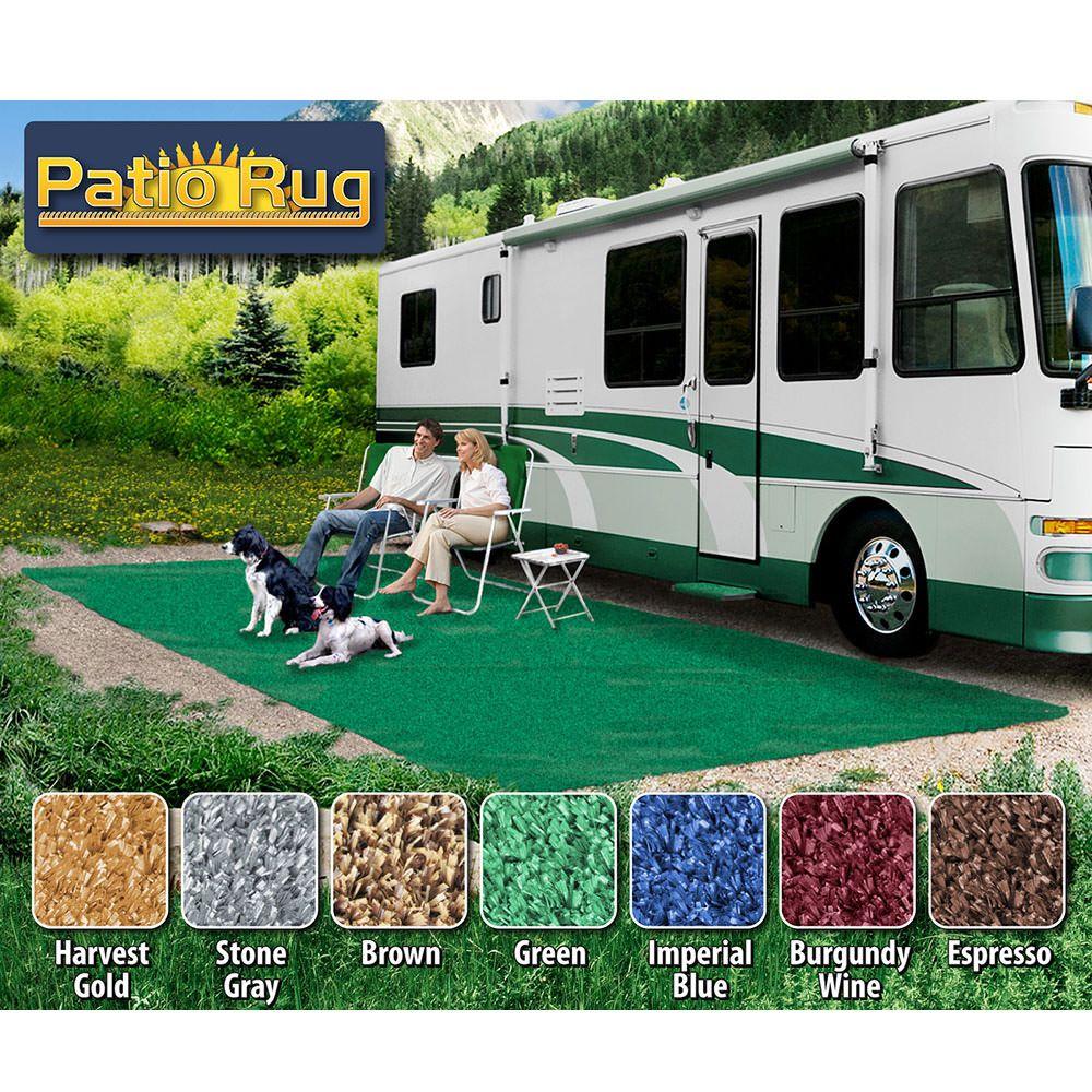 prest o fit patio rug 8 x 20 green