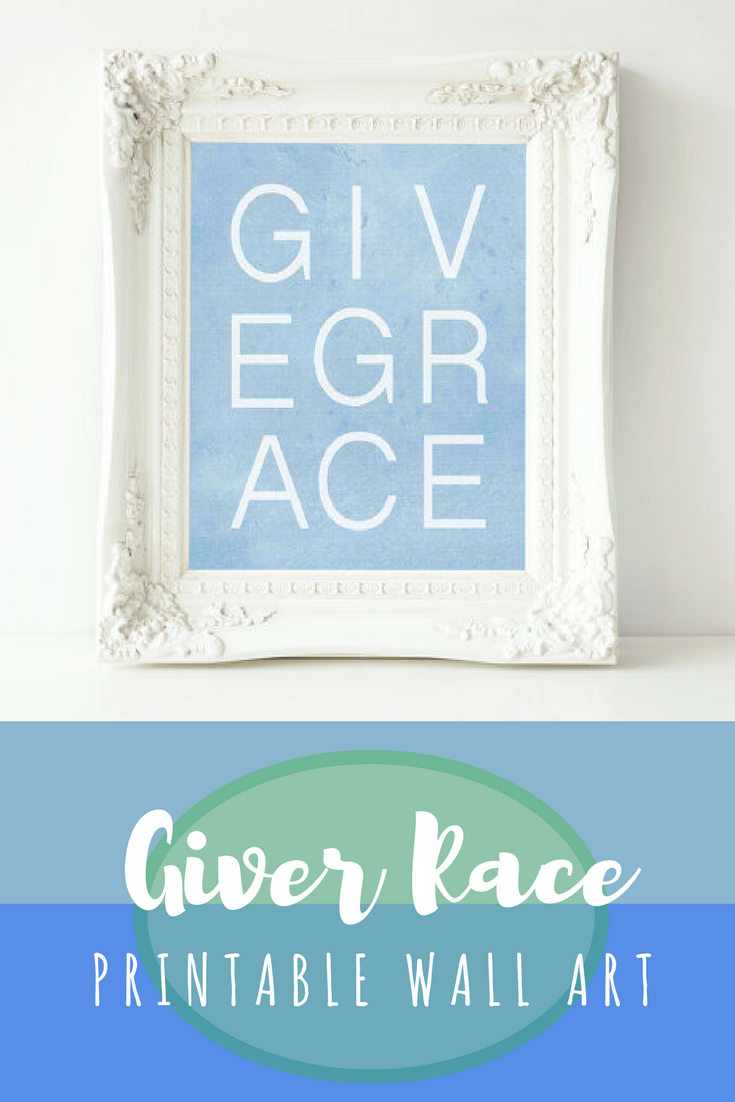 Grace Printable Wall Art Give Grace printable quote nursery printable grace wall art  sc 1 st  Pinterest & Grace Printable Wall Art Give Grace printable quote nursery ...