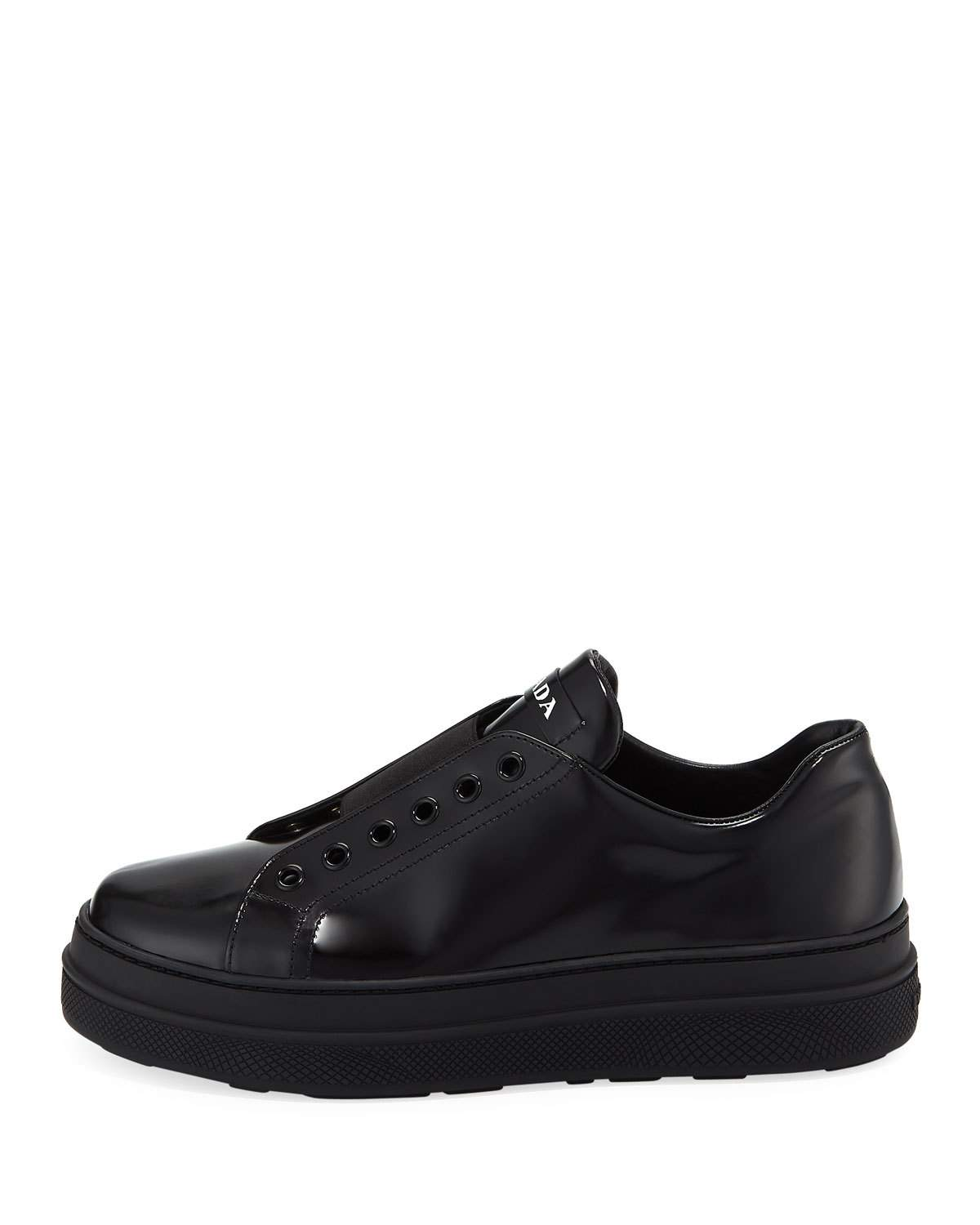 55d5f7bf017e Prada Leather Slip-On Low-Top Sneaker | Products in 2019 | Prada ...