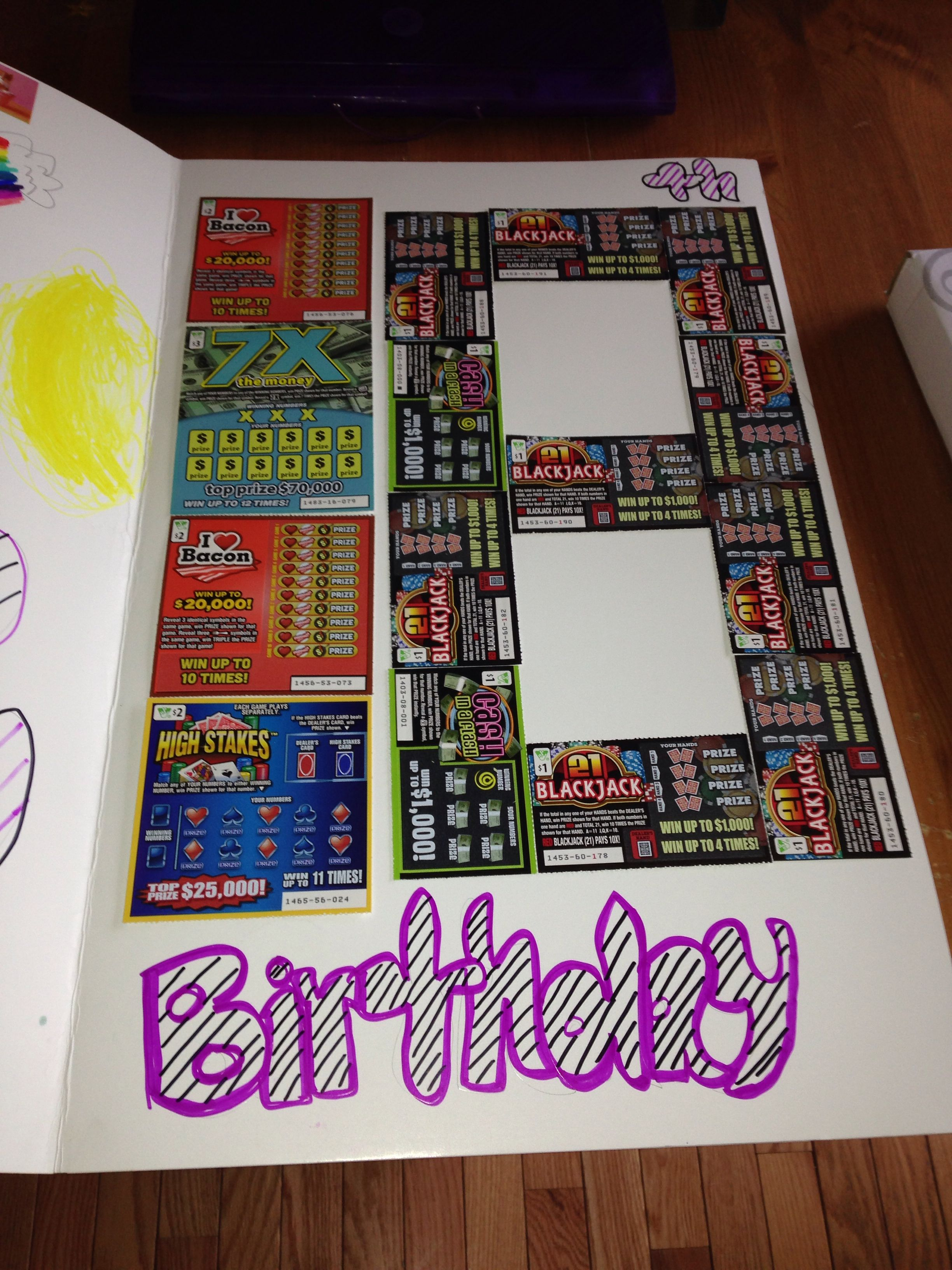 Scratch Off Lottery Tickets Great 18th Birthday Idea