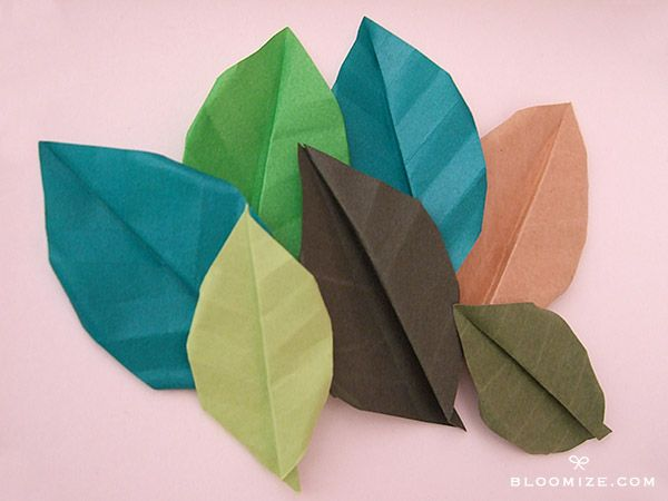 Origami leaves with or without veins bloomize flow paper origami leaves with or without veins bloomize mightylinksfo Gallery