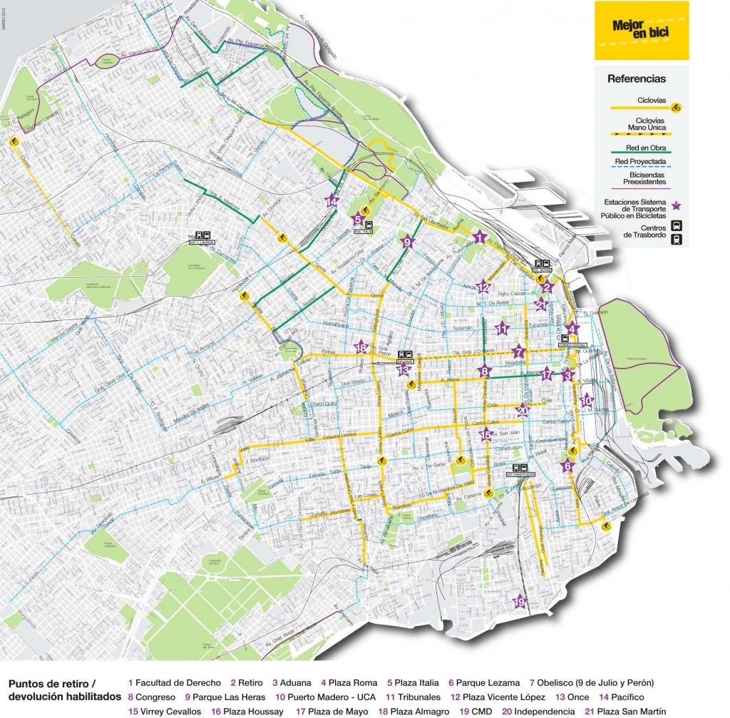 The way to get around buenos aires on a bike bike map new way