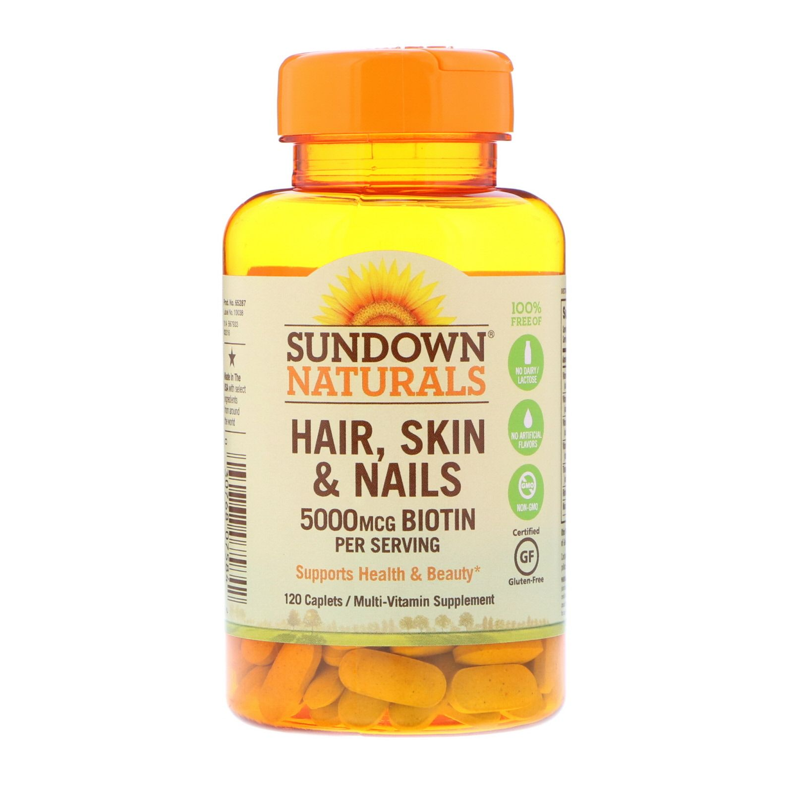 Sundown Naturals مكمل غذائي للشعر والبشرة والأظافر 120 كبسولة Natural Hair Styles Hair Skin Nails Health Beauty