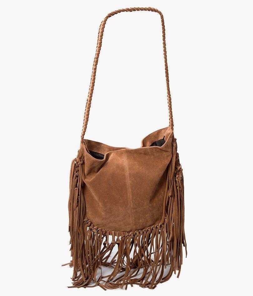 Fringe Messenger Bag Azalea