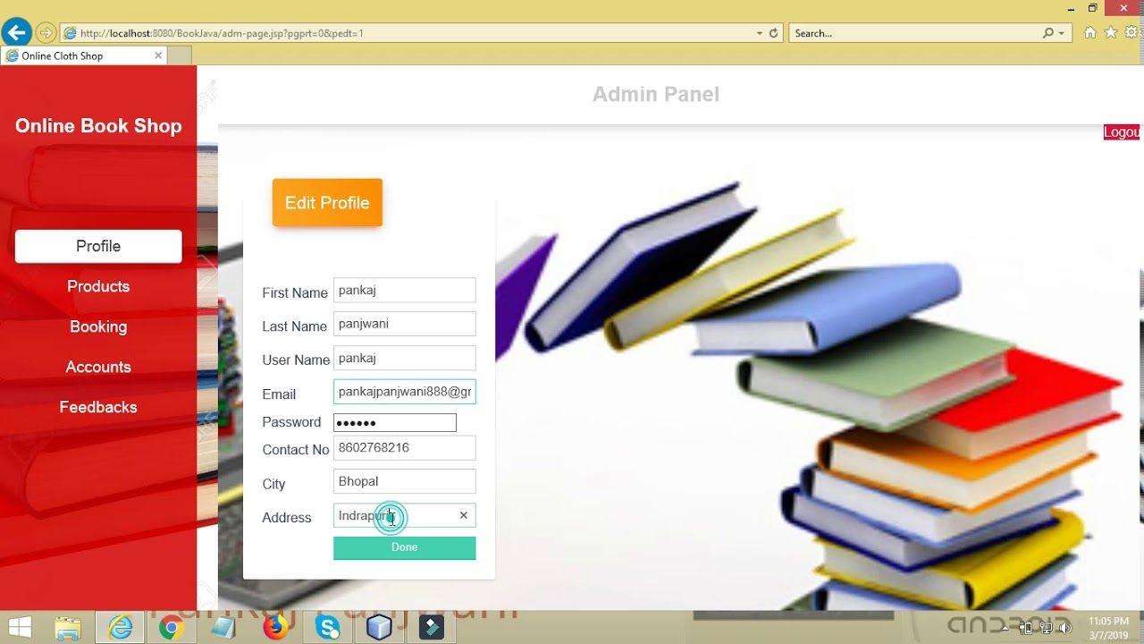 Online Book Shop Project | Java JSP Servlet Netbeans | YCT